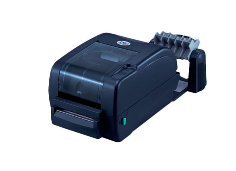 Принтер с ножом для отделения готовых вшивных этикеток